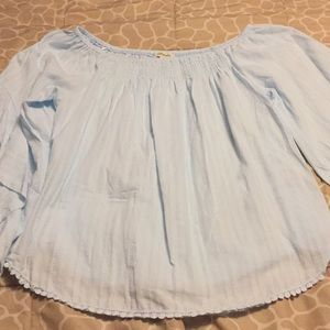Andthewhy light blue top